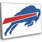 Buffalo Bills Football Logo Hockey Sport Art 50x40 Framed Canvas Print