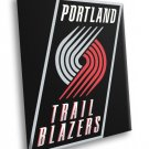 Portland Trail Blazers Logo Basketball Sport Art 50x40 Framed Canvas Print