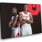 Dwight Howard James Harden Houston Rockets 50x40 Framed Canvas Print