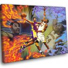 Black Mamba Old Vs Young Art Los Angeles Lakers 50x40 Framed Canvas Print