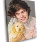 One Direction Harry Styles Puppy Cute Music Rare 50x40 Framed Canvas Print