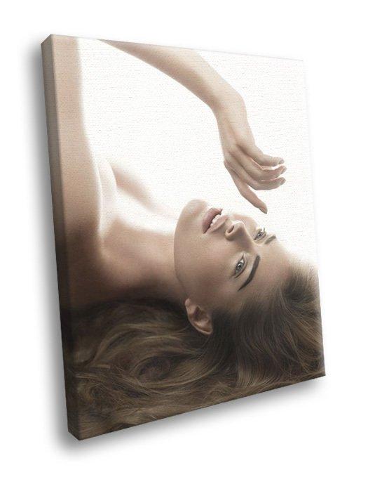 Doutzen Kroes Beautiful Sexy Model Rare 50x40 Framed Canvas Print