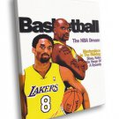 Shaquille O Neal Lakers Art Basketball Sport 50x40 Framed Canvas Print