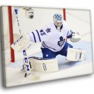 Jonathan Bernier Toronto Maple Leafs Goaltender 50x40 Framed Canvas Print