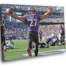 Raymell Mourice Rice Baltimore Ravens Football Sport 50x40 Framed Canvas Print