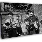 The Beatles BW Incredible Rare Retro Band 50x40 Framed Canvas Print