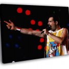 Queen Rare Freddie Mercury Microphone Band 50x40 Framed Canvas Print
