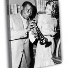 Louis Armstrong Grace Kelly Saxophone Retro 50x40 Framed Canvas Print
