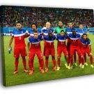 Team Players USA 2014 FIFA World Cup Football 50x40 Framed Canvas Print