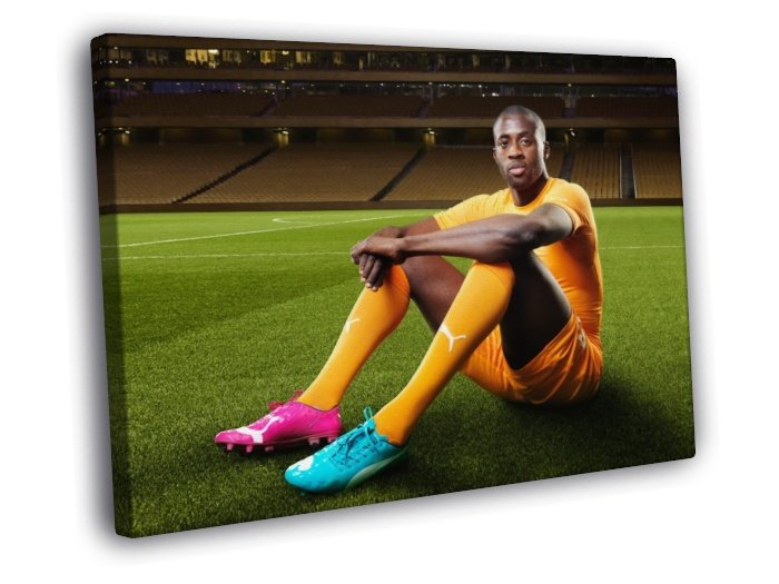 Yaya Toure Ivory Coast Football Soccer Sport 50x40 Framed Canvas Print