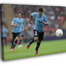 Luis Suarez Uruguay Football Soccer Sport 50x40 Framed Canvas Print