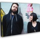 Phantogram Electronic Rock Duo Group Funny 50x40 Framed Canvas Print
