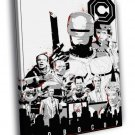 Robocop 1987 Movie Characters ED 209 Murphy 50x40 Framed Canvas Print