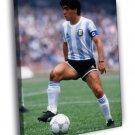 Diego Maradona Argentina Legend Soccer 50x40 Framed Canvas Print