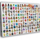 Movie Video Game Comics Characters Art Part 1 50x40 Framed Canvas Print