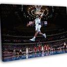 Vince Carter Dallas Mavericks Dunk Basketball 50x40 Framed Canvas Print