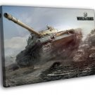 World Of Tanks Video Game WoT Awesome Art 50x40 Framed Canvas Print
