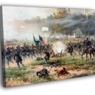 Battle Of Antietam American Civil War Painting 50x40 Framed Canvas Print