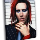 Marilyn Manson Portrait Heavy Metal Shock 2014 50x40 Framed Canvas Print