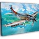 Douglas A 1H Skyraider Air Forces WW2 War 50x40 Framed Canvas Print