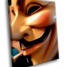 Guy Fawkes Mask 50x40 Framed Canvas Art Print