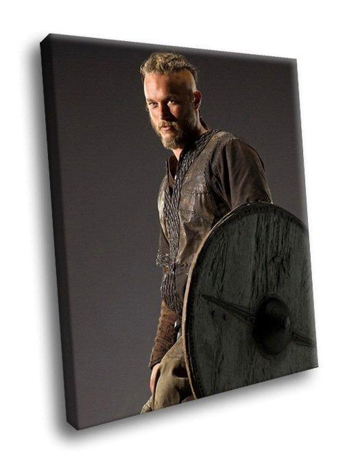 Vikings TV Series Travis Fimmel 50x40 Framed Canvas Art Print