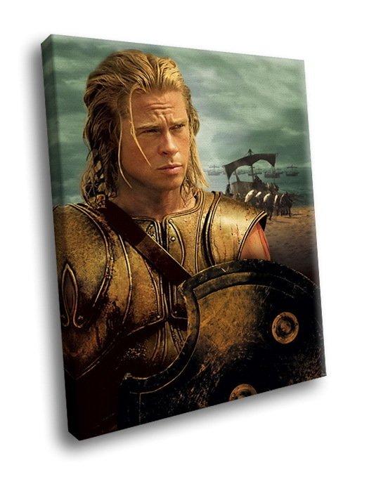 Troy Movie Brad Pitt Achilles 50x40 Framed Canvas Art Print