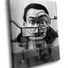 Salvador Dali Painter Portrait Funny Moustache 50x40 Framed Canvas Art Print