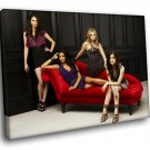 Pretty Little Liars Teen Drama TV Series Cast 50x40 Framed Canvas Art Print