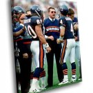 Mike Ditka American Football Player Chicago Bears 50x40 Framed Canvas Art Print