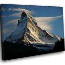 Matterhorn Peak Alps Switzerland 50x40 Framed Canvas Art Print