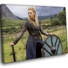 Katheryn Winnick Actress Vikings TV Series 50x40 Framed Canvas Art Print