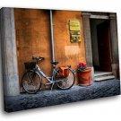 Italy Street Bike 50x40 Framed Canvas Art Print
