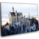 Germany Bavaria Medieval Castle 50x40 Framed Canvas Art Print