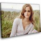 Emma Watson Cute Model Actress 50x40 Framed Canvas Art Print