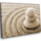 Zen Stones Sand 50x40 Framed Canvas Art Print