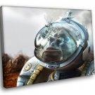Astronaut Fantasy Art Alien Outer Space 50x40 Framed Canvas Art Print