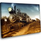 Train Retro Railway Steam Engine Loco 50x40 Framed Canvas Art Print
