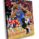 Kevin Durant NBA Basketball Oklahoma City Sport 50x40 Framed Canvas Art Print