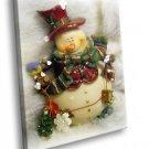 Merry Christmas Amazing Snowman 50x40 Framed Canvas Art Print