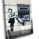 Banksy Graffiti Street Cool Art 50x40 Framed Canvas Art Print