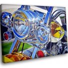 Hot Bike Motorcycle Lights Art 50x40 Framed Canvas Art Print
