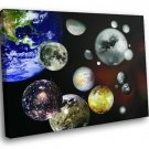 Solar System Planets Moon 50x40 Framed Canvas Art Print