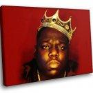 Notorious Hip Hop Rap Crown 50x40 Framed Canvas Art Print