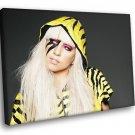 Wild Lady GAGA Blonde Body Art Pop Diva 50x40 Framed Canvas Art Print