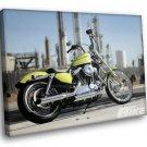 Harley Davidson Hot Bike Factory 50x40 Framed Canvas Art Print