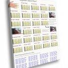 Beginner Guitar Chord Chart Music 40x30 Framed Canvas Print