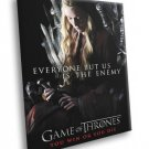 Game Of Thrones Cersei Lannister Cast TV Series 40x30 Framed Canvas Print