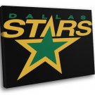 Dallas Stars Logo Hockey Sport Art 40x30 Framed Canvas Print