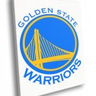 Golden State Warriors Logo Basketball Sport Art 40x30 Framed Canvas Print